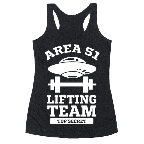 Area 51 Lifting Team Racerback Tank Top
