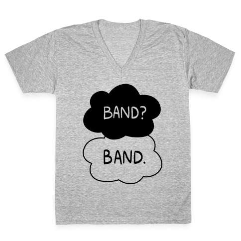 Band? Band. V-Neck Tee Shirt