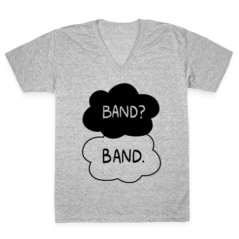 Band? Band. V-Neck Tee Shirt