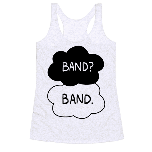 Band? Band. Racerback Tank Top