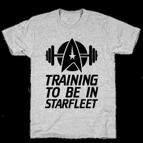 Training to be in Starfleet Mens T-Shirt
