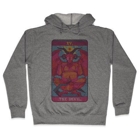 Devil Tarot Card Hooded Sweatshirt
