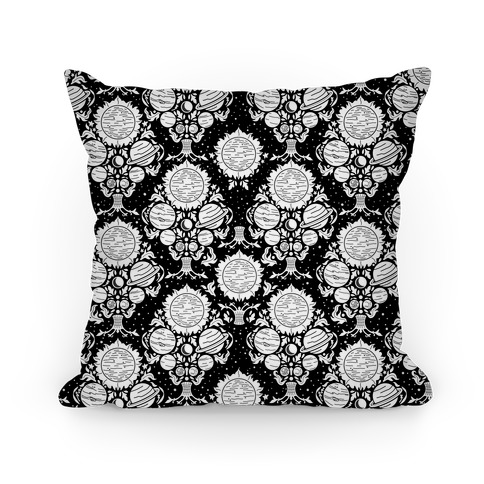 Victorian Planet Pattern Pillow