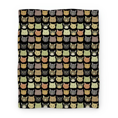 Cat Faces Pattern Blanket