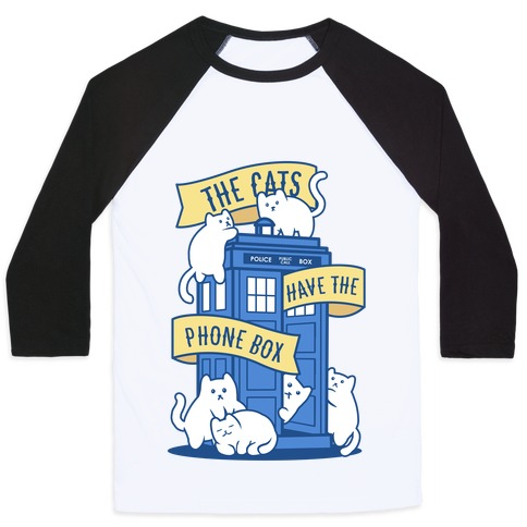 The Cats Have the Phone Box! Baseball Tee