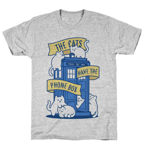 The Cats Have the Phone Box! Mens T-Shirt