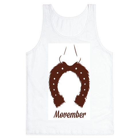 Horseshoe Mustache Tank Top
