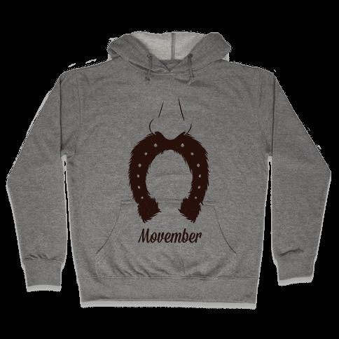 Horseshoe Mustache Hooded Sweatshirt
