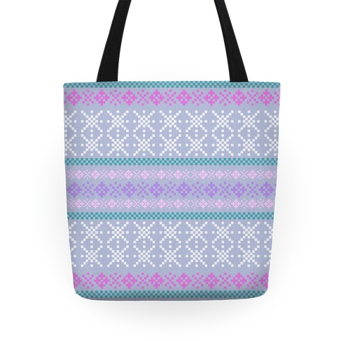 Sweater Pattern Print Tote