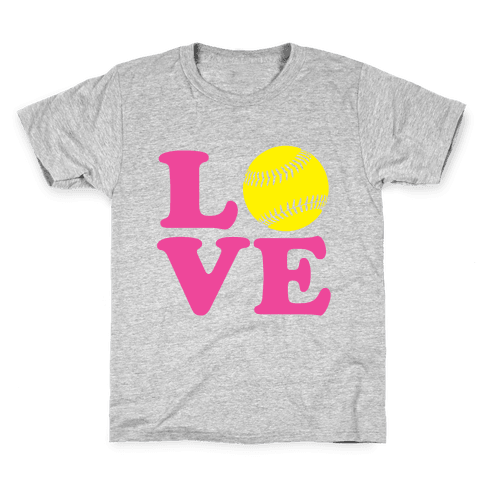 Love Softball Kids T-Shirt