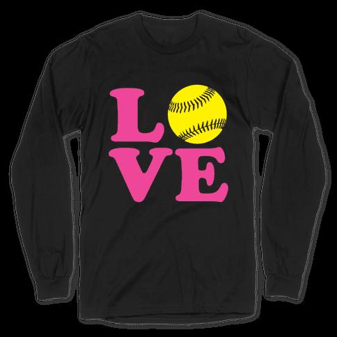 Love Softball Long Sleeve T-Shirt