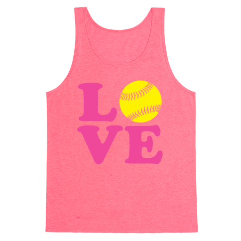 Love Softball Tank Top