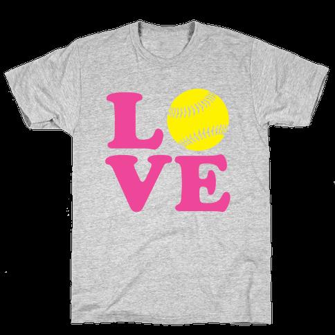 Love Softball Mens T-Shirt