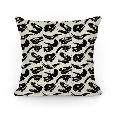 Dino Skulls Pillow