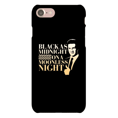 Black as Midnight on a Moonless Night Phone Case