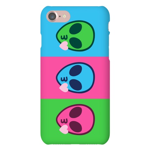 Blowing Kiss Alien Emojis Phone Case