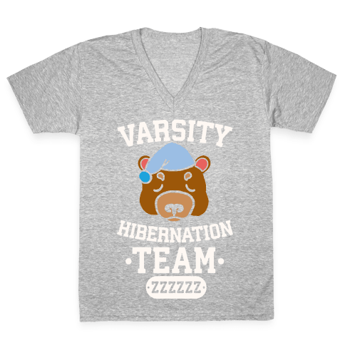 Varsity Hibernation Team V-Neck Tee Shirt