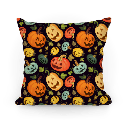 Happy Autumn Pumpkin Pattern Pillow
