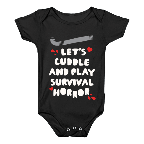 Let's Cuddle and Play Survival Horror Baby Onesy