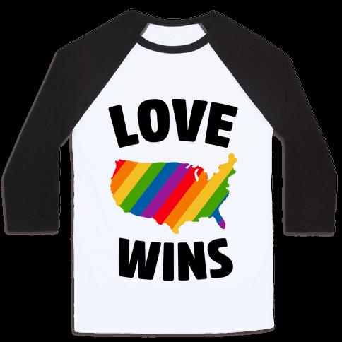 Love Wins Baseball Tee
