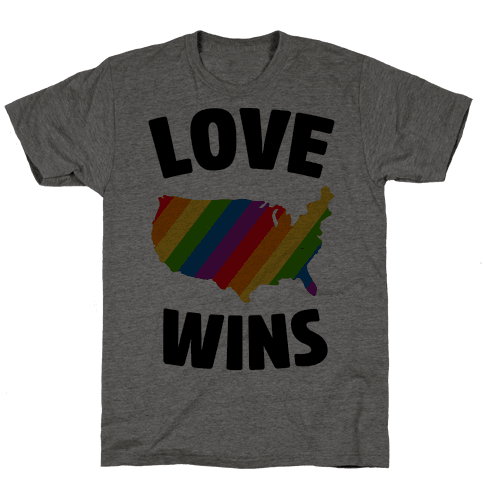 Love Wins Mens T-Shirt