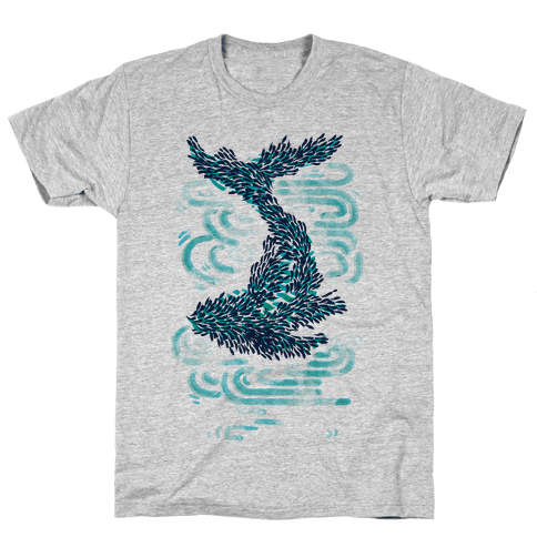 The Whale And The School Mens T-Shirt