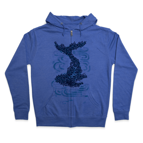 The Whale And The School Zip Hoodie