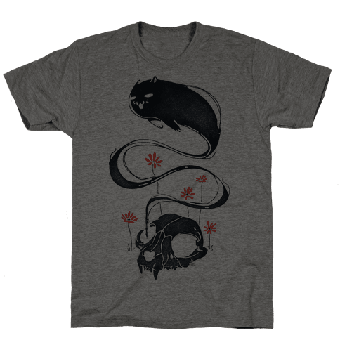 Cat Ghost Mens T-Shirt