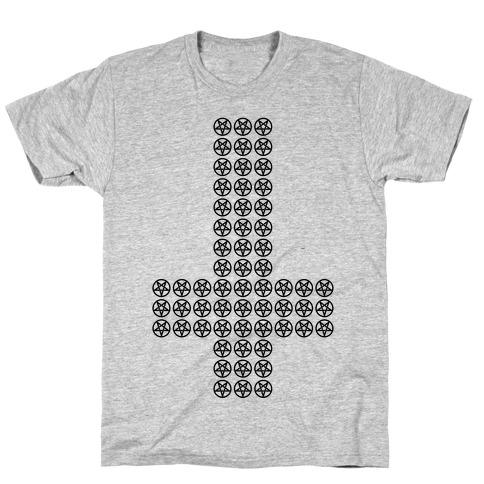 Pentagram Cross T-Shirt