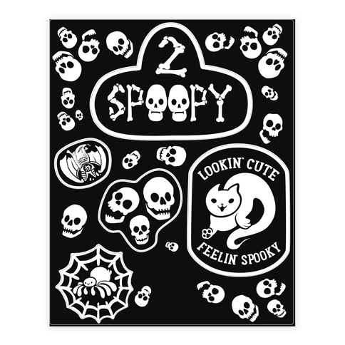 Spoopy  Sticker/Decal Sheet