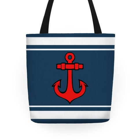 Anchors and Stripes Tote