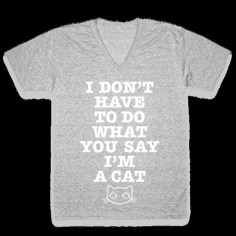 I'm A Cat V-Neck Tee Shirt