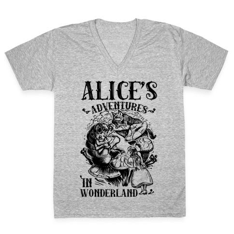Alice's Adventures in Wonderland V-Neck Tee Shirt