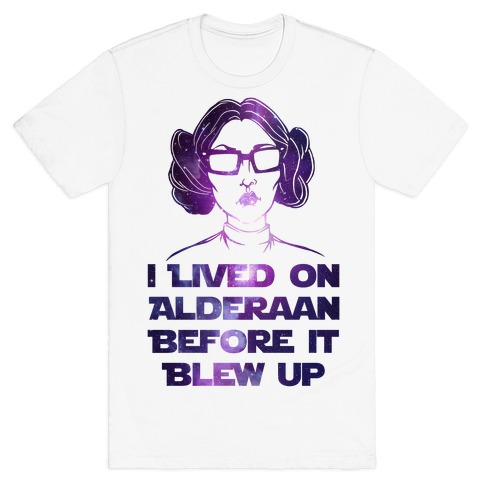 Hipster Leia Mens T-Shirt