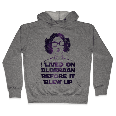 Hipster Leia Hooded Sweatshirt