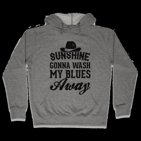 Sunshine Gonna Wash My Blues Away Hooded Sweatshirt