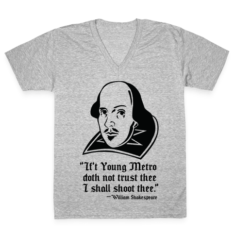 If Young Metro Shakespeare  V-Neck Tee Shirt