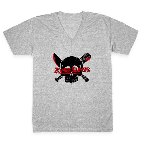 Zombie Slayers V-Neck Tee Shirt