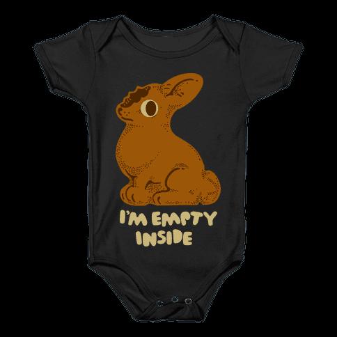 I'm Empty Inside Chocolate Easter Bunny Baby Onesy