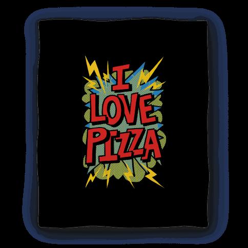 I Love Pizza Pop Art Blanket