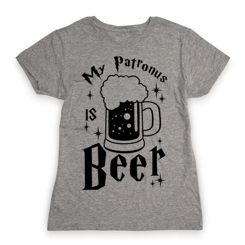 My Patronus Is Beer Womens T-Shirt