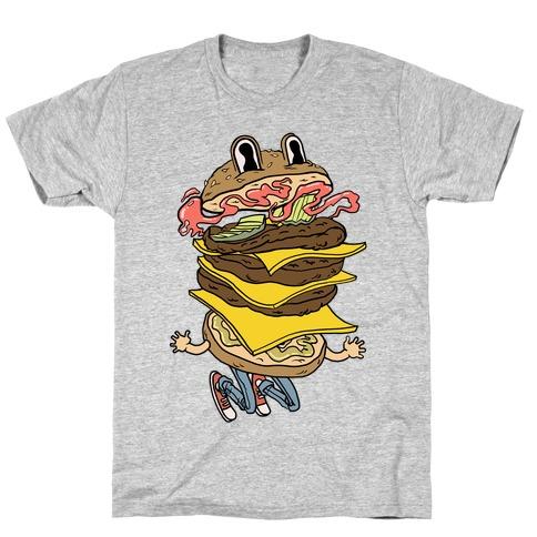 Triple Decker Burger Dude T-Shirt