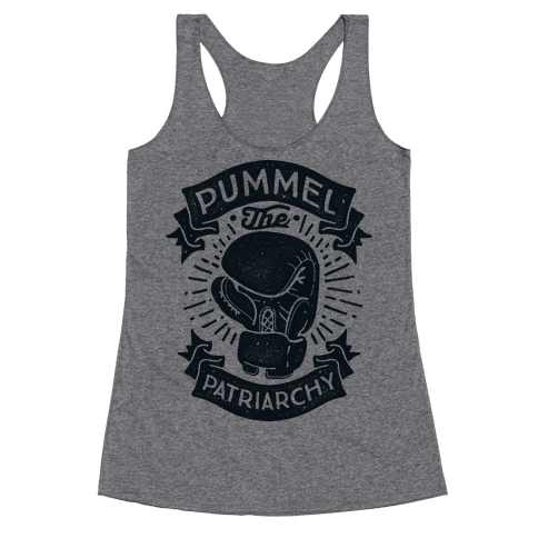 Pummel The Patriarchy Racerback Tank Top