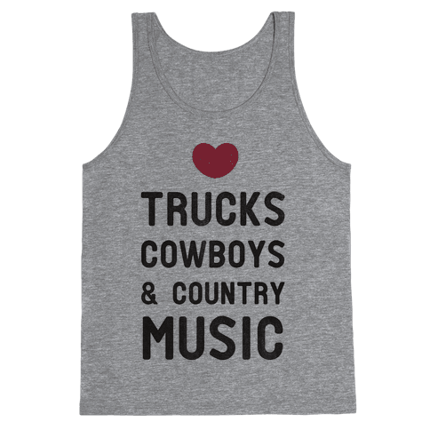 Trucks Cowboys & Country ( Baseball Tee) Tank Top