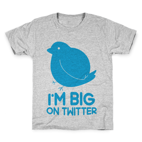 Big On Twitter Kids T-Shirt