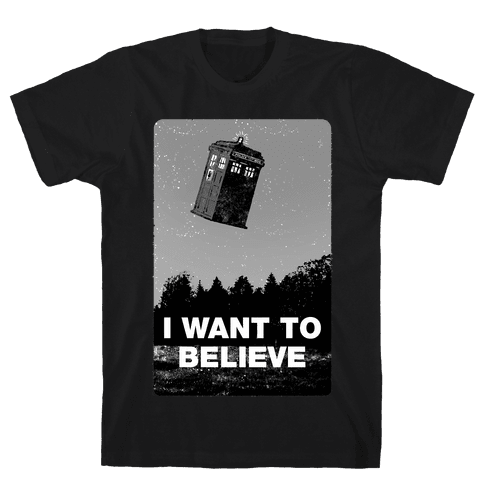 I Want To Believe (doctor who) Mens T-Shirt