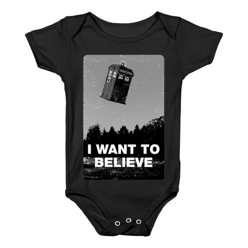 I Want To Believe (doctor who) Baby Onesy