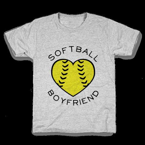 Softball Boyfriend (Baseball Tee) Kids T-Shirt