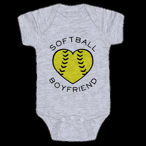 Softball Boyfriend (Baseball Tee) Baby Onesy