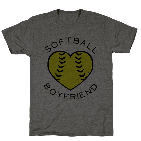 Softball Boyfriend (Baseball Tee) Mens T-Shirt